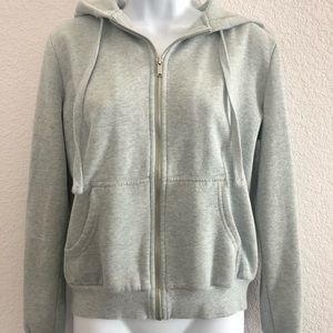 Gray blue heather cute color zip up hoodie by H&M